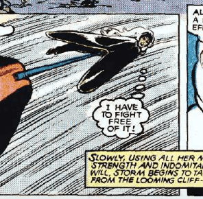 The tensile strength of Nightcrawler's tail is really impressive.