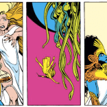 Remember that one time Kitty Pryde straight-up stabbed someone in the back? BECAUSE THAT HAPPENED. (Excalibur #16)