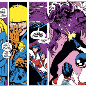 This is the last Evil Illyana panel. We promise. BUT IT'S SO AWESOME. (Excalibur #23)