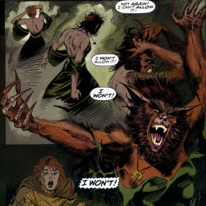 Andy Kubert draws a pretty kick-ass Werewolf Rahne. (Wolverine: Rahne of Terra)