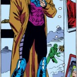 "Hey, it's Gambit's first full panel! ""Who is that mysterious and surprisingly colorful man?"" (Uncanny X-Men #266)"
