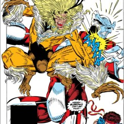 Behold - crotches! And also a pretty cool fight. (New Mutants #91)