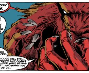 Scary Rahne is so good. (New Mutants #97)