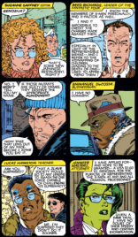 I'm trying to imagine the Punisher in a bunch of different man-on-the-street segments, and it's never not funny. (Uncanny X-Men #272)