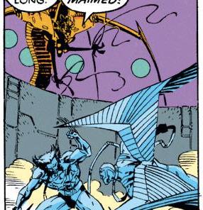 One of Hodge's more pronounced Mojo moments. (Uncanny X-Men #272)
