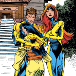 Possibly the most awkward ending image ever. (X-Factor #64)