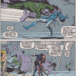 Best fight dialogue? Best fight dialogue. And check out that word-balloon cut! (Excalibur #36)