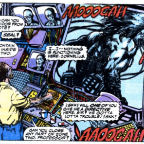 "I know it's supposed to be an alarm, but I can't shake the idea that Wolverine is just yelling ""AAOOOGAH"" over and over. (Marvel Comics Presents #80)"