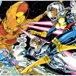 Yep, it's another two-page spread. Don't blame us--blame Jim Lee! (Uncanny X-Men #277)