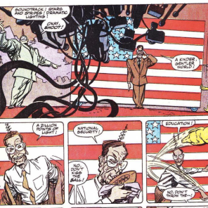 ...and a possibly-recognizable political figure. (New Mutants Summer Special)