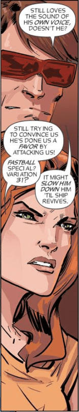 I love that they have named and numbered all of their special moves. (X-Factor Forever #3)