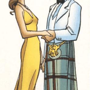 Laird Hetero McNonthreatening and his amazing Hypercolor kilt! (X-Men: True Friends #2)