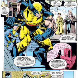 ...and you, in turn, watch the Hydra operatives; as the NSA watches you; and... (Wolverine #50)