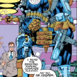 Okay, NOW we get it: Nick Fury spent his entire suit budget on pouches. (X-Men #2)