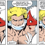 Pitch: A comic where Brian always talks like this, for no apparent reason. (Excalibur #44)