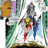 Are... Iceman and Colossus levitating? (Uncanny X-Men #283)