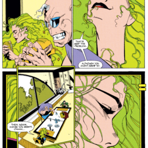 I made a list of people who draw Polaris's hair better than Larry Stroman, and there were no names on it, because no one draws Polaris's hair better than Larry Stroman. (X-Factor #71)