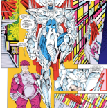 The most amazing thing about this page is the idea that an actual body is supposed to be in that armor. (X-Force #1)