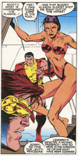 Psylocke, just admit that you were sunbathing. No one will judge you. (X-Men #5)