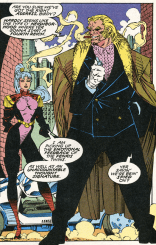 He's also got a dark pink tie in some panels. (X-Men #6)