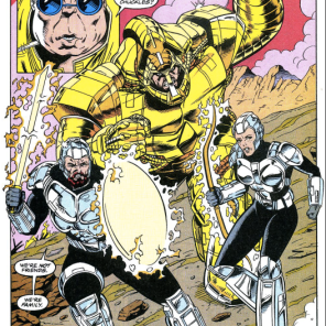 You'd think gods would have less generic armor. (X-Factor #76)
