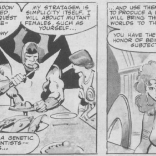 In the next panel, he tries to lend them a copy of Atlas Shrugged.