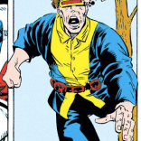 Scott Summers: hopelessly uncool in just about any time period. (Excalibur: XX Crossing)