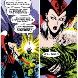 He died as he lived: crushed under a tower of word balloons. (Excalibur: XX Crossing)