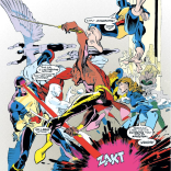 That Kitty and Bobby briefly dated later makes this much funnier. (Excalibur: XX Crossing)