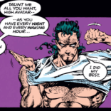 I know you were in the Void Dimension for a while, Mikhail, but... did you forget how shirts work? (Uncanny X-Men #291)