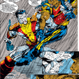 In the next panel, Colossus and Bishop passionately kiss. (Uncanny X-Men #292)