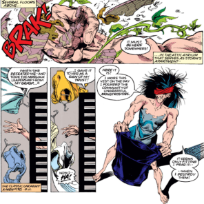 To be fair, Callisto keeps all of her clothing in pots. Storm, having played Zelda>, does not. (Uncanny X-Men #292)