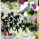"Now there's a guy who knows how to put the ""fun"" in ""funeral."" (X-Men #12)"