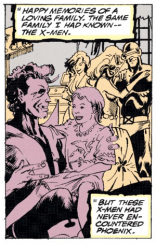 Several aspects of Rachel's backstory as presented in this issue will be retconned away, but this is the most significant of those. (Excalibur #52)