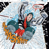 Having studied under Cable, Kane knows how to leap into battle. (Cable: Blood and Metal #1)
