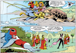 """It seems kind of ridiculous that he jumps straight to """"must be an illusion"""" after everything he's seen, but... That's our Brian! (Excalibur #54)"""