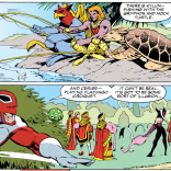"It seems kind of ridiculous that he jumps straight to ""must be an illusion"" after everything he's seen, but... That's our Brian! (Excalibur #54)"