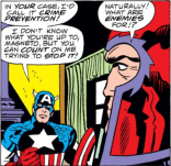 """Morning, Ralph."" ""Morning, Sam."" (Captain America Annual #4)"
