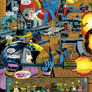 Look at these ridiculous guns. LOOK AT THEM. (Cable: Blood and Metal #2)