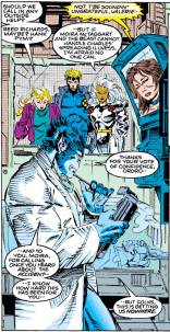 Man, Andy Kubert could draw someone doing their taxes and it'd look superheroic. (X-Men #14)
