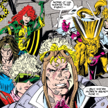 X-Force: both very sympathetic and very colorful! I miss when badasses wore colors other than black. (X-Force #16)
