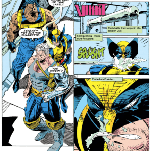 Logan ABSOLUTELY deserved that. (X-Force #17)