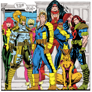 Those are actually... really snazzy team uniforms. Dang. (X-Force #19)