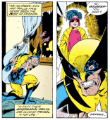 I don't know why this is a thing. It doesn't actually impact the story in any significant way. (Excalibur #57)