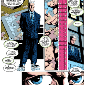 It's rough to be Pietro Maximoff; but at least you get to dress like THAT. (X-Factor #87)