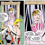 This is both an excellent disguise and a quality Cross-Time Caper callback. (Excalibur #56)