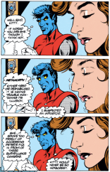 PRO TIP: If you stare long enough at your friends and neighbors' faces without blinking, they will also do this eventually. (Excalibur #65)