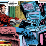 I like to think he watches this like a soap opera. (X-Men #17)