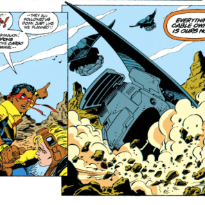 I was gonna make a callback to that one tangent about how Cable probably carries a bunch of tampons because they are useful and he seems like the kind of dude who has a good attitude about menstruation, but it seemed too forced. (X-Force #22)