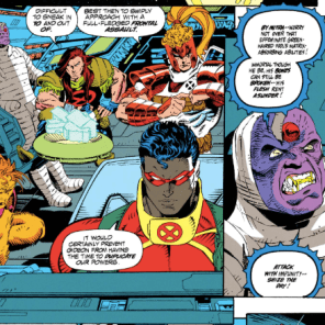 Look at him! He's just propped up in the corner! (X-Force #23)